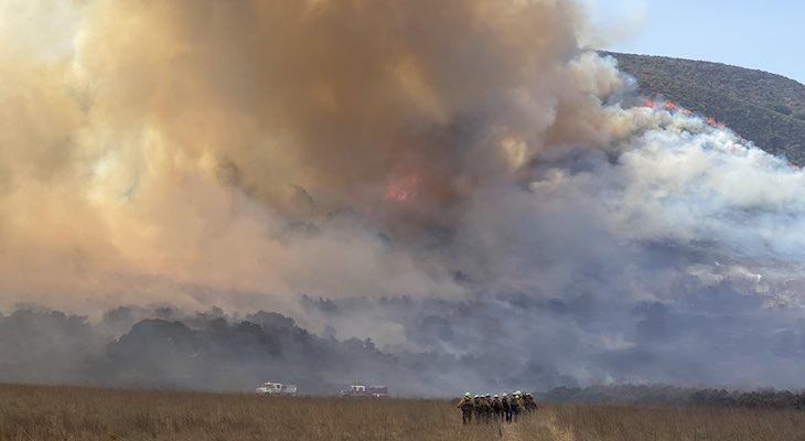 Vandenberg Air Force Base Brush Fire Grows to 110 Acres