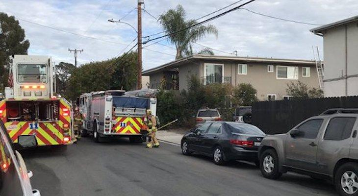 Apartment Fire in Isla Vista