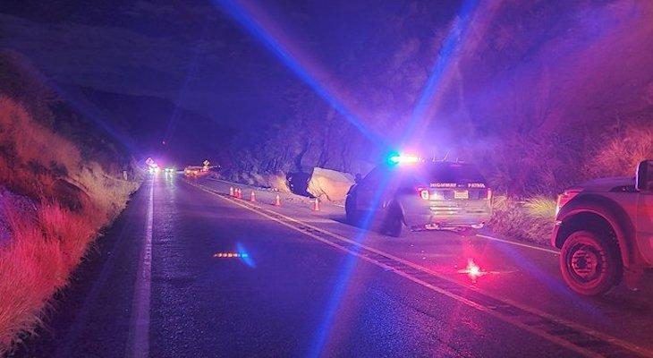 Highway 154 Reopened After Rockslide
