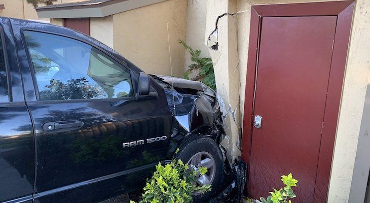 Truck Crashes Into Goleta Apartment Building