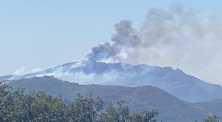 Alisal Fire Flare Ups on Saturday