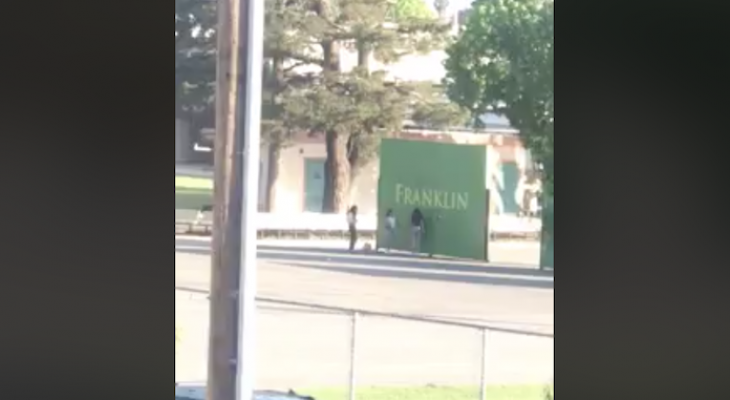 Franklin School Looking for Vandals Caught on Video
