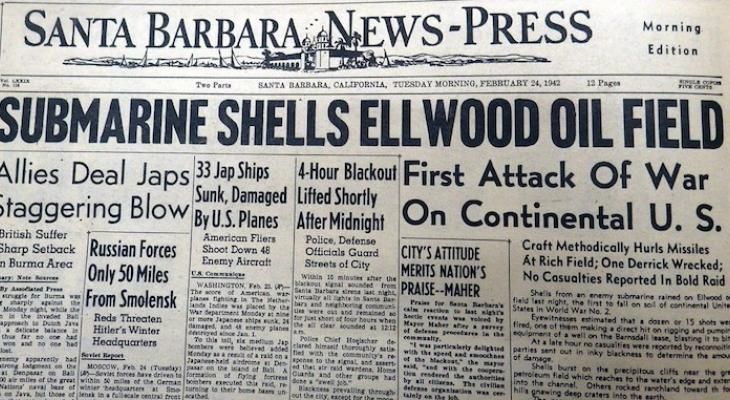 Ellwood Beach Attacked During WWII 79 years ago
