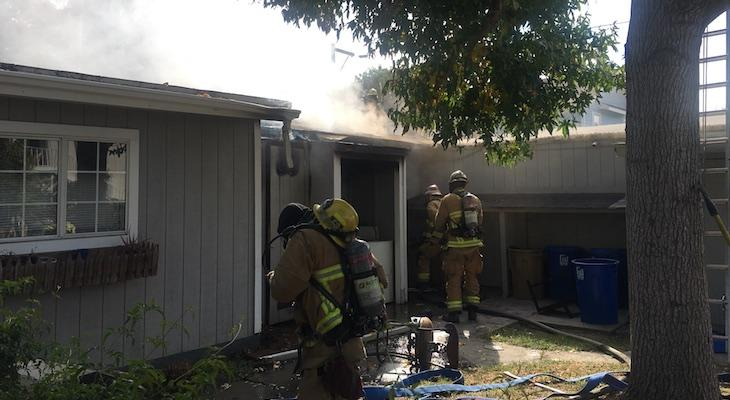 Structure Fire on De La Vina