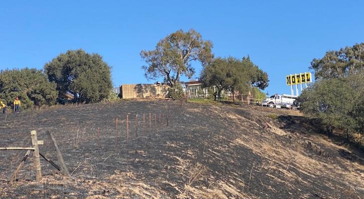Alamos Fire Caused by Tractor Mower