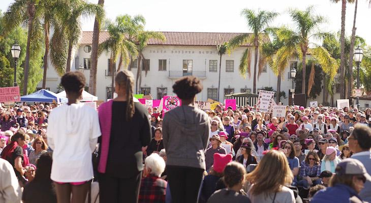 Thousands Show Up for Women's March Anniversary Rally