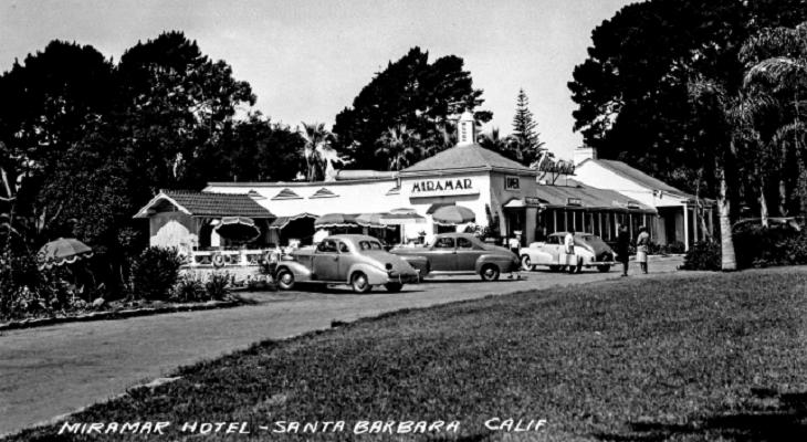 Historic Miramar Hotel and Beach Postcards