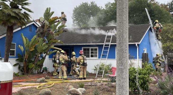 Structure Fire on the Mesa