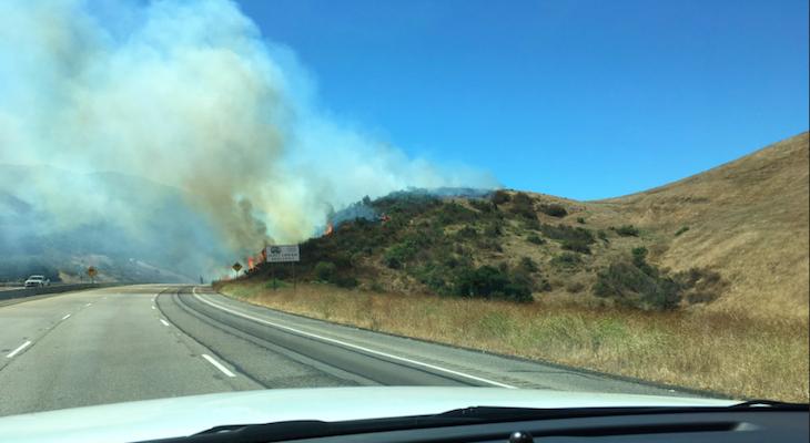 Brush Fire at Nojoqui Summit