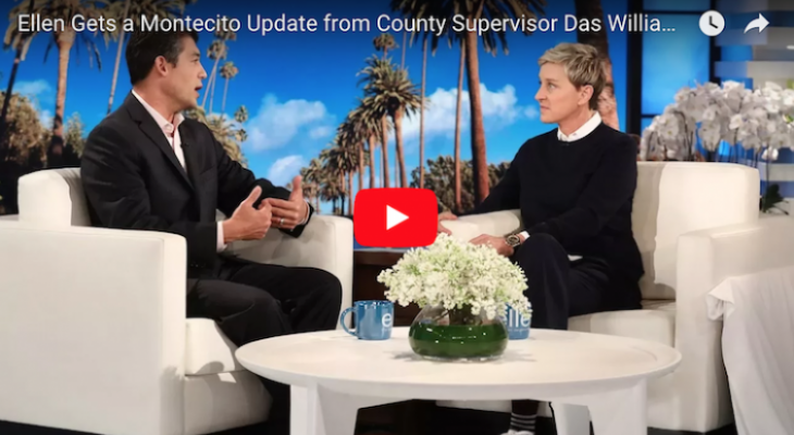 Das Williams Appears on The Ellen Show to Discuss the Montecito Mudslide