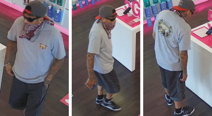 Deputies Search for T-Mobile Robbery Suspect