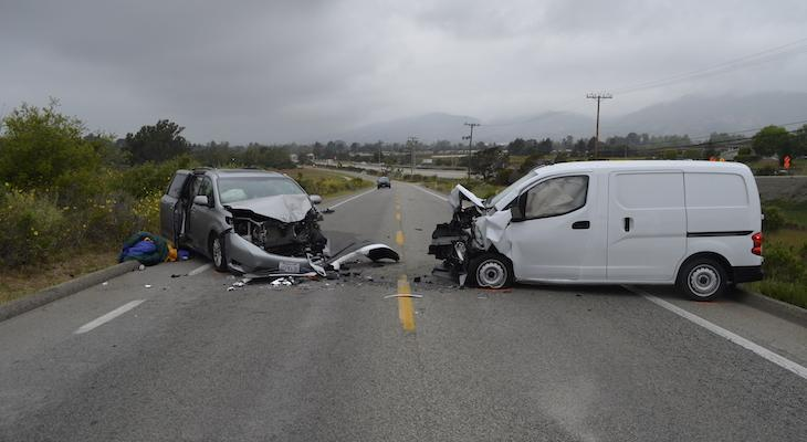 Fatal Head-On Traffic Collision in Carpinteria