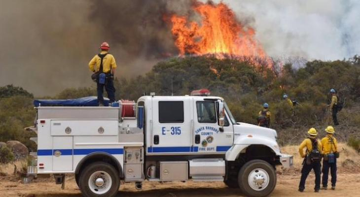 Whittier Fire 83% Contained