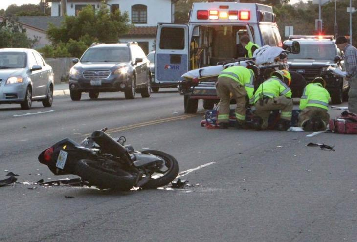 Motorcycle Collision on Cliff Drive