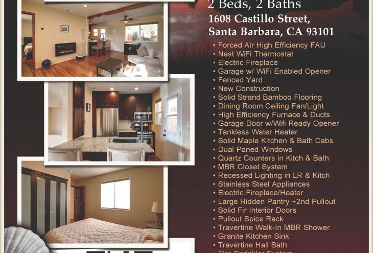 Santa Barbara real estate, 1608 Castillo