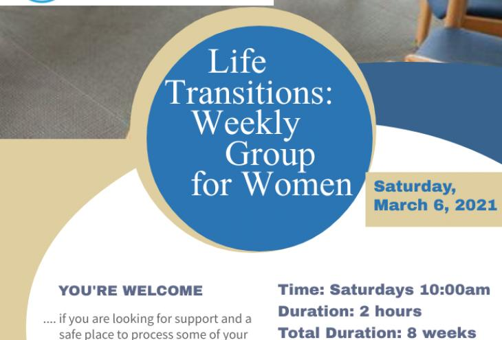 Flier for a women's support group