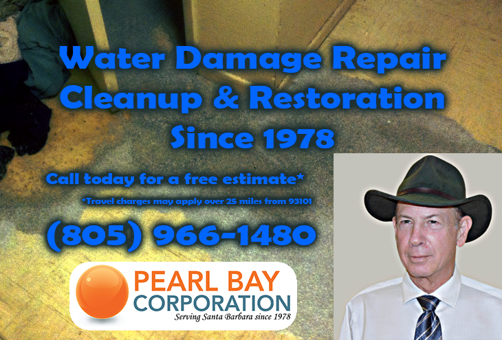 Water damage cleanup, repair, and restoration since 1978. Free Estimates, call 805-966-1480