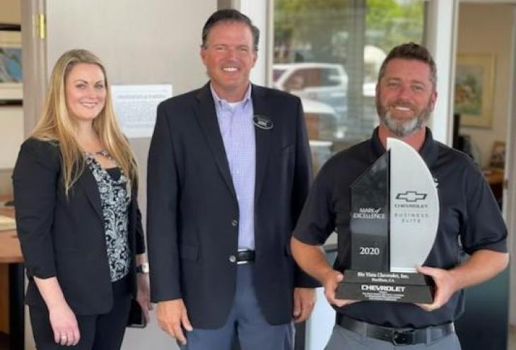 Buellton Rio Vista Chevrolet wins award: 1 of 10 out of the nation