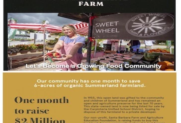 Sweet Wheel Summerland FUNDRAISER- 1 Month to Raise $2 Million raising funds to buy 6-acres